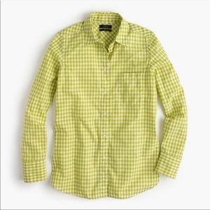J. Crew Mini Gingham Check Button Down Shirt SZ 6